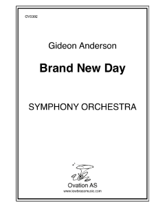 Andersson - A Brand New Day (symphony orchestra)