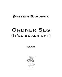 Ordner Seg (It'll be alright) solo, strings and piano