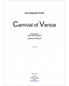Carnival of Venice (Eb tuba and piano)